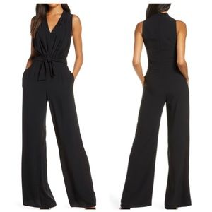 Gal Meet Glam | Black V Neck Sleeveless Jumpsuit